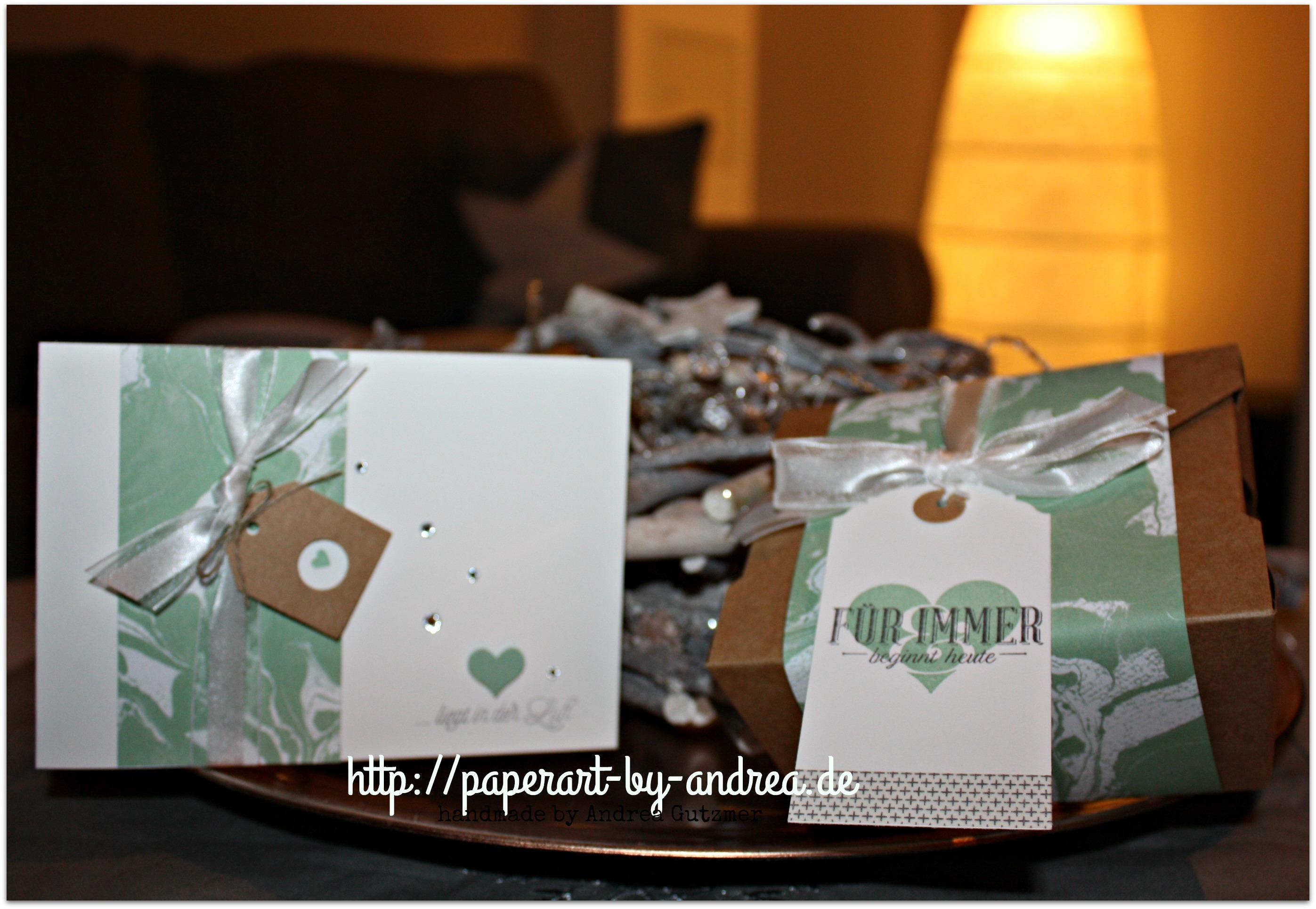 kleines geschenk zur hochzeit paperart by andrea. Black Bedroom Furniture Sets. Home Design Ideas